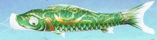 徳永こいのぼり 金彩弦月之鯉 豪 緑鯉 単品 3m [koi-0770]