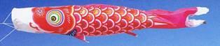 徳永こいのぼり 錦龍 赤鯉 単品 1.5m [koi-0938]