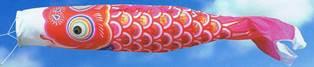 徳永こいのぼり 金太郎ゴールド鯉 赤鯉 単品 8m [koi-1031]