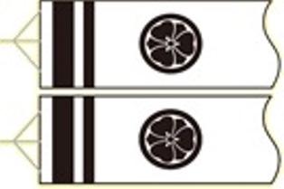 徳永こいのぼり 2〜1.2m 吹流し用 家紋・花個紋・名前入れ [家紋コード:F1] [koi-1355]