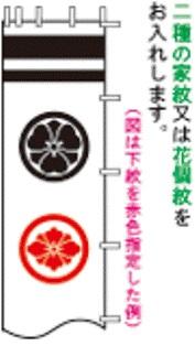 徳永こいのぼり 2.5m 節句幟用 家紋・花個紋・名前入れ [家紋コード:N-2] [koi-1380]